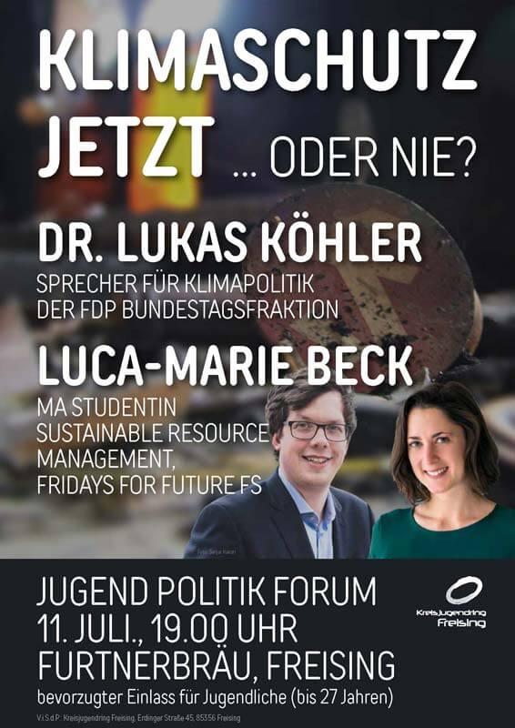 Kreisjugendring Freising - Veranstaltung - Jugend Politik Forum - 11. Juli 2019 - 19:00 Uhr - Furtner Bräu Freising - Klimaschutz - Jetzt oder nie!